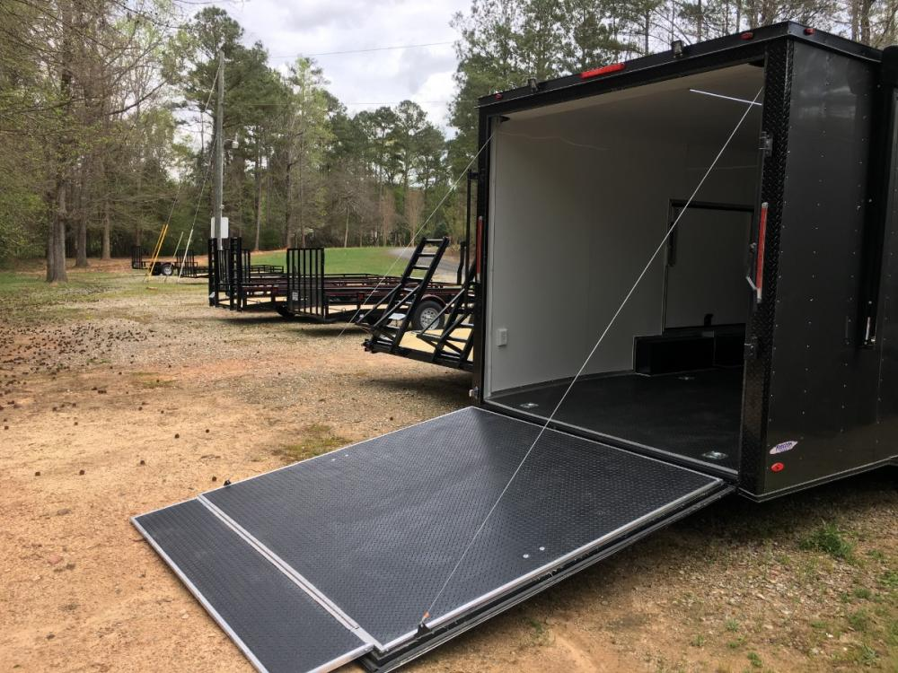 2021 Charcoal Metallic w/Black Out Pkg. Freedom Trailers 8.5ft X 24ft Race Ready Pkg , located at 1330 Rainey Rd., Macon, GA, 31220, (478) 960-1044, 32.845638, -83.778687 - Photo #9