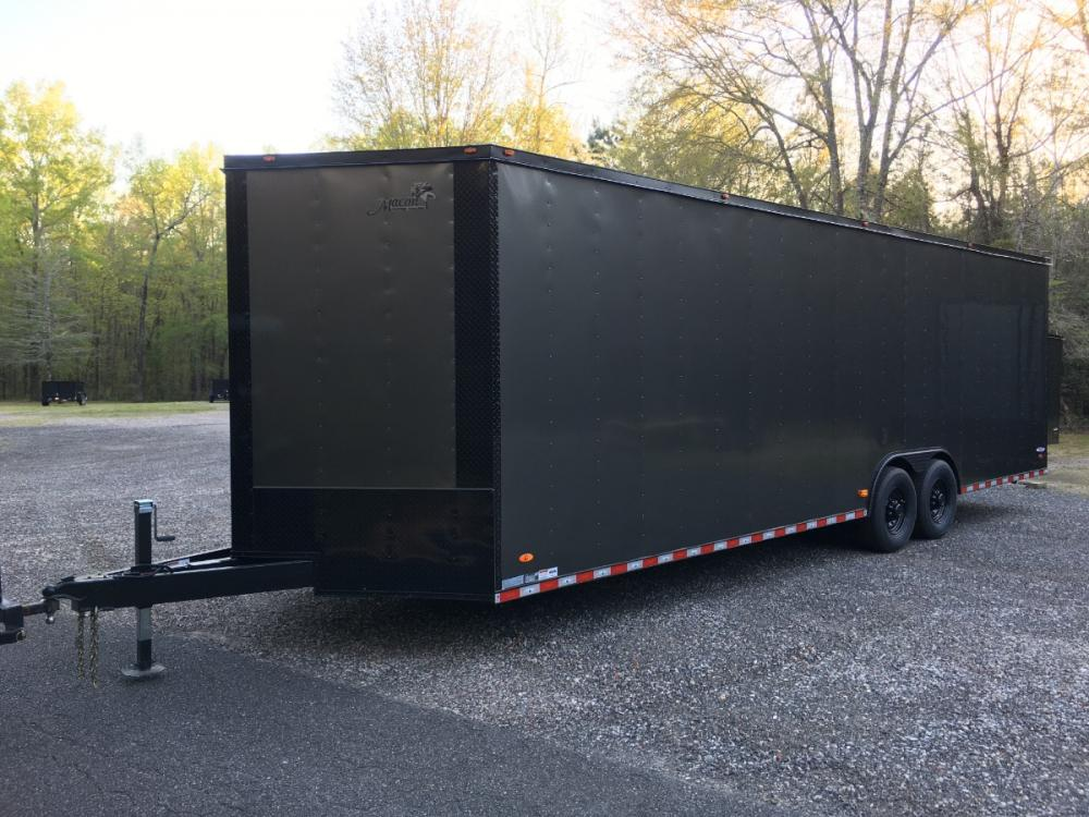 2021 Charcoal Metallic w/Black Out Pkg. Freedom Trailers 8.5ft X 28ft Tandem , located at 1330 Rainey Rd., Macon, GA, 31220, (478) 960-1044, 32.845638, -83.778687 - Photo #0