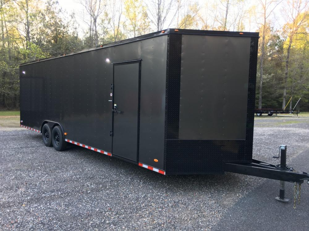 2021 Charcoal Metallic w/Black Out Pkg. Freedom Trailers 8.5ft X 28ft Tandem , located at 1330 Rainey Rd., Macon, GA, 31220, (478) 960-1044, 32.845638, -83.778687 - Photo #1