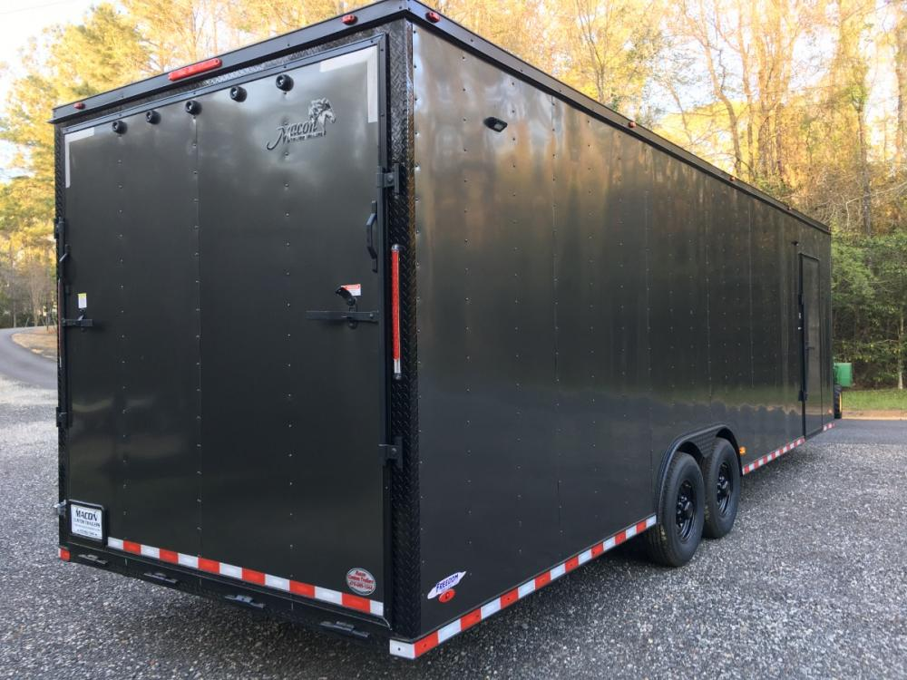 2021 Charcoal Metallic w/Black Out Pkg. Freedom Trailers 8.5ft X 28ft Tandem , located at 1330 Rainey Rd., Macon, GA, 31220, (478) 960-1044, 32.845638, -83.778687 - Photo #19