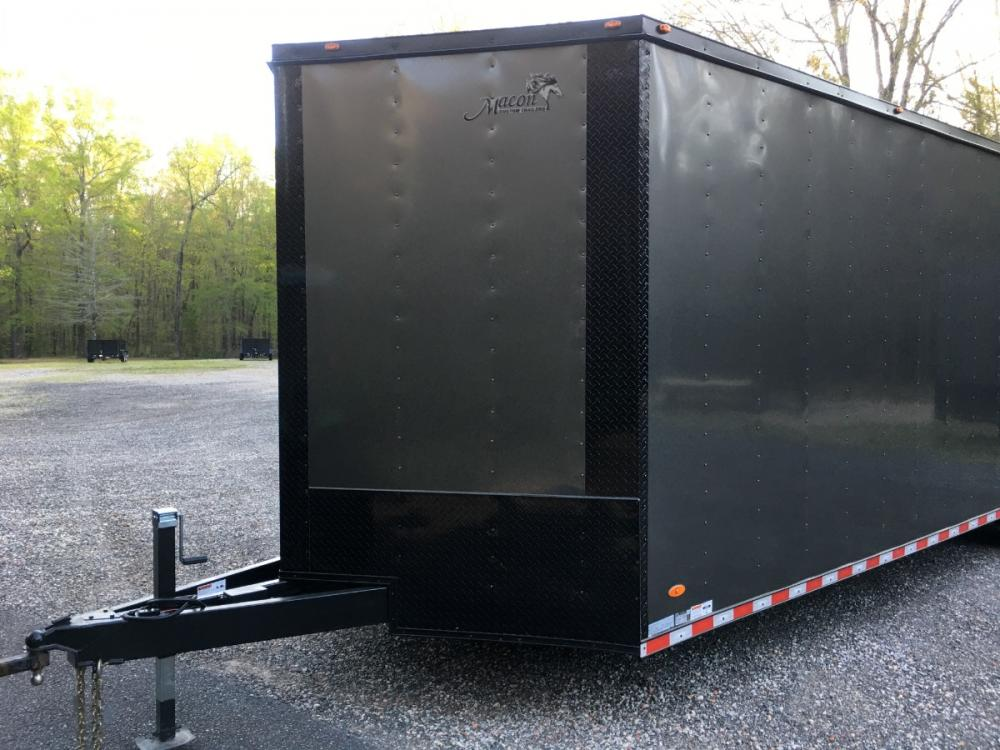 2021 Charcoal Metallic w/Black Out Pkg. Freedom Trailers 8.5ft X 28ft Tandem , located at 1330 Rainey Rd., Macon, GA, 31220, (478) 960-1044, 32.845638, -83.778687 - Photo #3