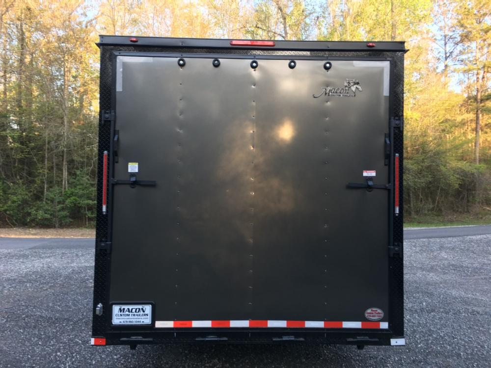 2021 Charcoal Metallic w/Black Out Pkg. Freedom Trailers 8.5ft X 28ft Tandem , located at 1330 Rainey Rd., Macon, GA, 31220, (478) 960-1044, 32.845638, -83.778687 - Photo #7