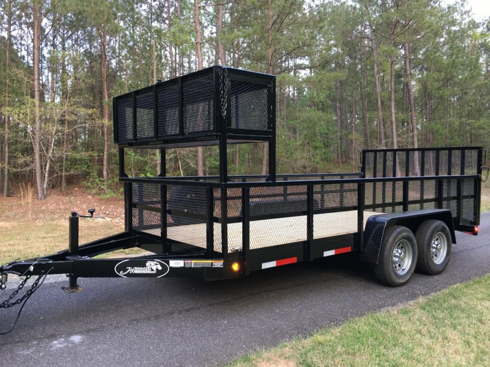 2021 Red Macon Custom Trailers 6ft 9