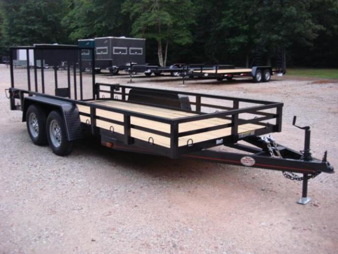 2020 Black w/Red Pin Striping! Macon Custom Trailers Utility & Landscape , located at 1330 Rainey Rd., Macon, GA, 31220, (478) 960-1044, 32.845638, -83.778687 - Photo #0