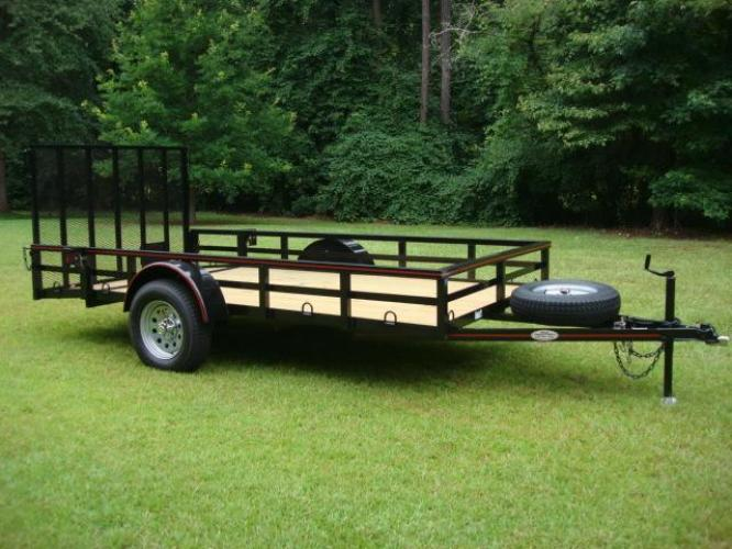 2020 Black Macon Custom 6ft X 12ft Deluxe Utility , located at 1330 Rainey Rd., Macon, GA, 31220, (478) 960-1044, 32.845638, -83.778687 - Photo #0