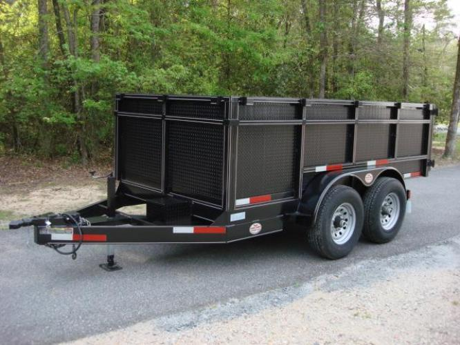 2020 Black C & W Dump Trailer , located at 1330 Rainey Rd., Macon, GA, 31220, (478) 960-1044, 32.845638, -83.778687 - Photo #0