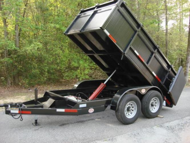 2020 Black C & W Dump Trailer , located at 1330 Rainey Rd., Macon, GA, 31220, (478) 960-1044, 32.845638, -83.778687 - Photo #16