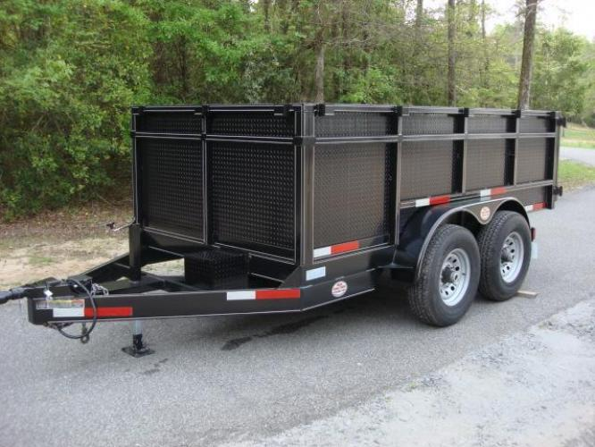 2020 Black C & W Dump Trailer , located at 1330 Rainey Rd., Macon, GA, 31220, (478) 960-1044, 32.845638, -83.778687 - Photo #17
