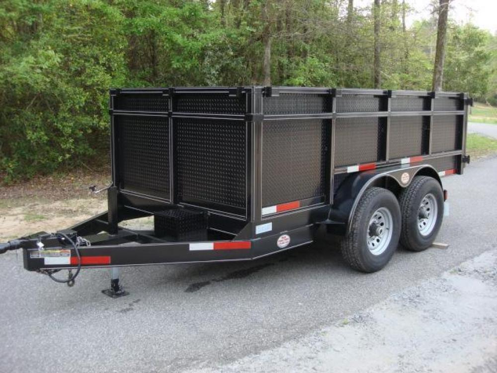 2021 Black C & W Dump Trailer , located at 1330 Rainey Rd., Macon, GA, 31220, (478) 960-1044, 32.845638, -83.778687 - Photo #17