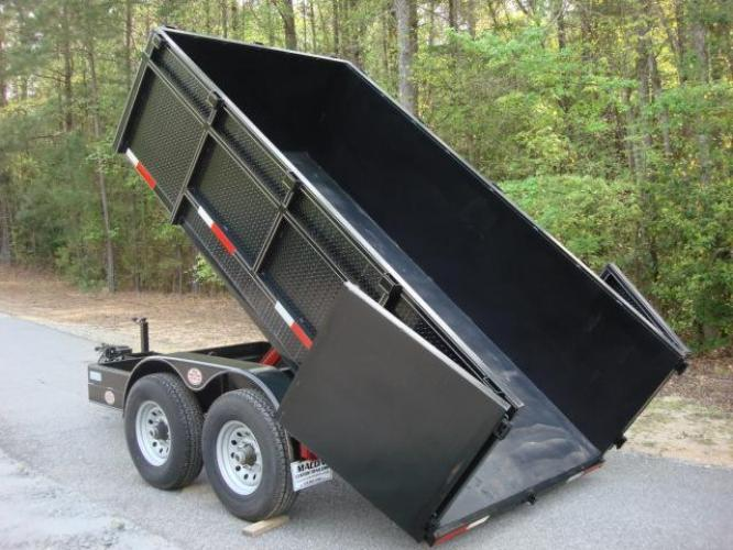 2020 Black C & W Dump Trailer , located at 1330 Rainey Rd., Macon, GA, 31220, (478) 960-1044, 32.845638, -83.778687 - Photo #1