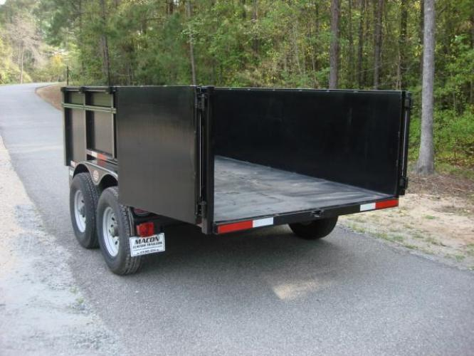 2020 Black C & W Dump Trailer , located at 1330 Rainey Rd., Macon, GA, 31220, (478) 960-1044, 32.845638, -83.778687 - Photo #4