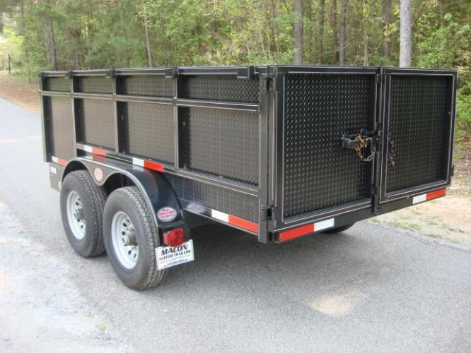 2020 Black C & W Dump Trailer , located at 1330 Rainey Rd., Macon, GA, 31220, (478) 960-1044, 32.845638, -83.778687 - Photo #7
