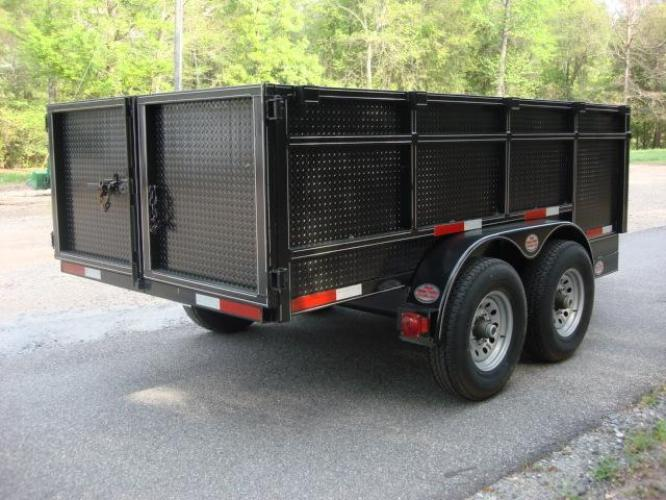 2020 Black C & W Dump Trailer , located at 1330 Rainey Rd., Macon, GA, 31220, (478) 960-1044, 32.845638, -83.778687 - Photo #8