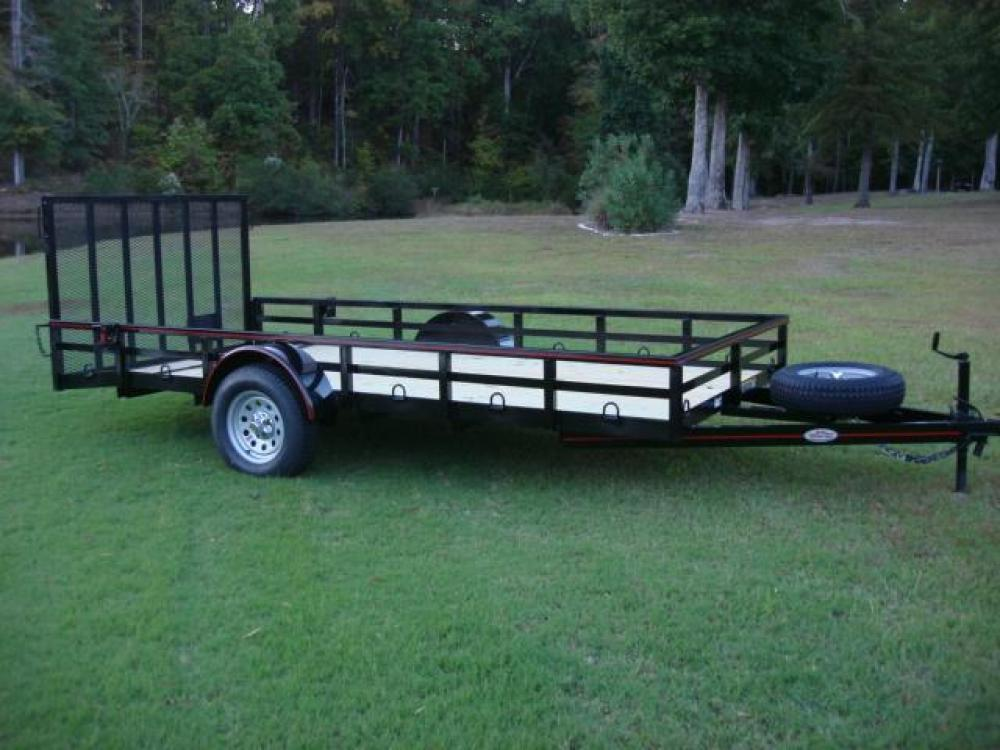 2021 Black Macon Custom Trailers Utility & Landscape , located at 1330 Rainey Rd., Macon, GA, 31220, (478) 960-1044, 32.845638, -83.778687 - Photo #9