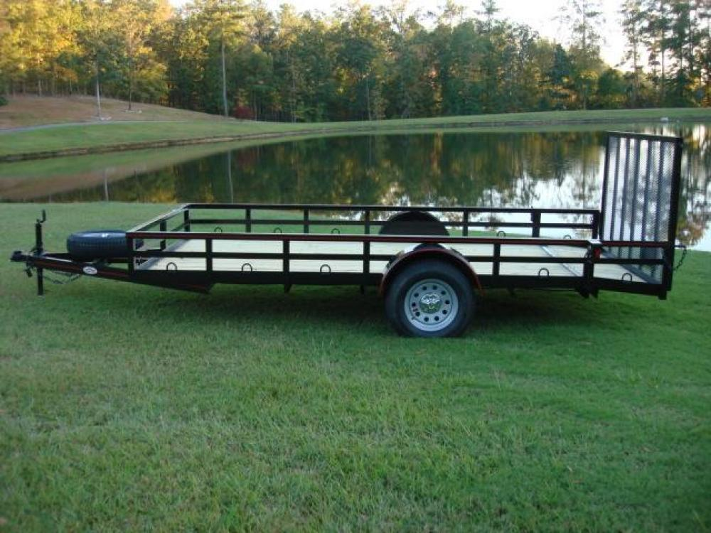 2021 Black Macon Custom Trailers Utility & Landscape , located at 1330 Rainey Rd., Macon, GA, 31220, (478) 960-1044, 32.845638, -83.778687 - Photo #1
