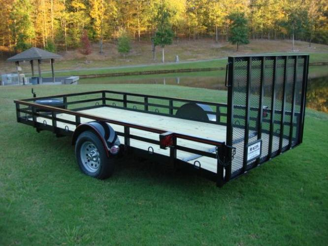 2020 Black Macon Custom Trailers Utility & Landscape , located at 1330 Rainey Rd., Macon, GA, 31220, (478) 960-1044, 32.845638, -83.778687 - Photo #2