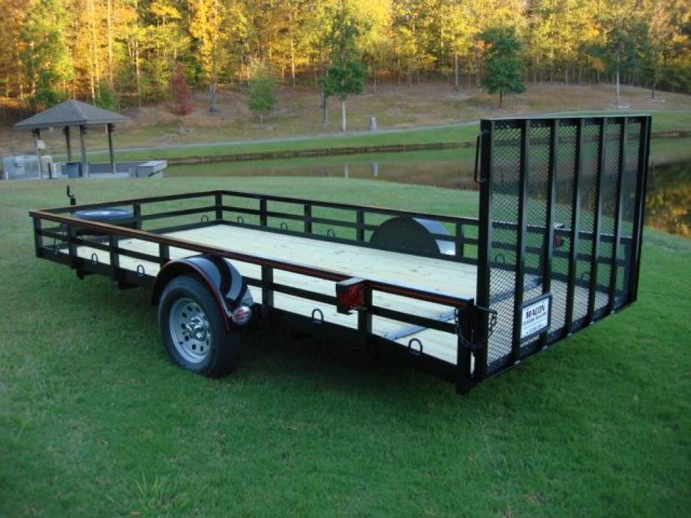 2021 Black Macon Custom Trailers Utility & Landscape , located at 1330 Rainey Rd., Macon, GA, 31220, (478) 960-1044, 32.845638, -83.778687 - Photo #2
