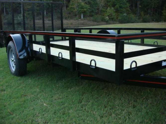 2020 Black Macon Custom Trailers Utility & Landscape , located at 1330 Rainey Rd., Macon, GA, 31220, (478) 960-1044, 32.845638, -83.778687 - Photo #5