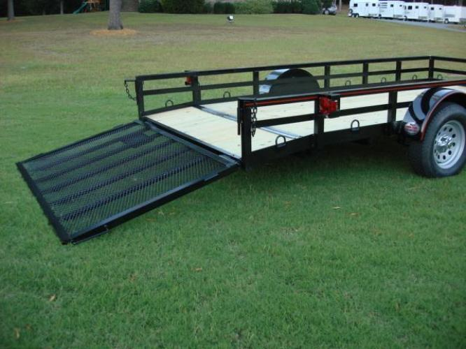 2020 Black Macon Custom Trailers Utility & Landscape , located at 1330 Rainey Rd., Macon, GA, 31220, (478) 960-1044, 32.845638, -83.778687 - Photo #7