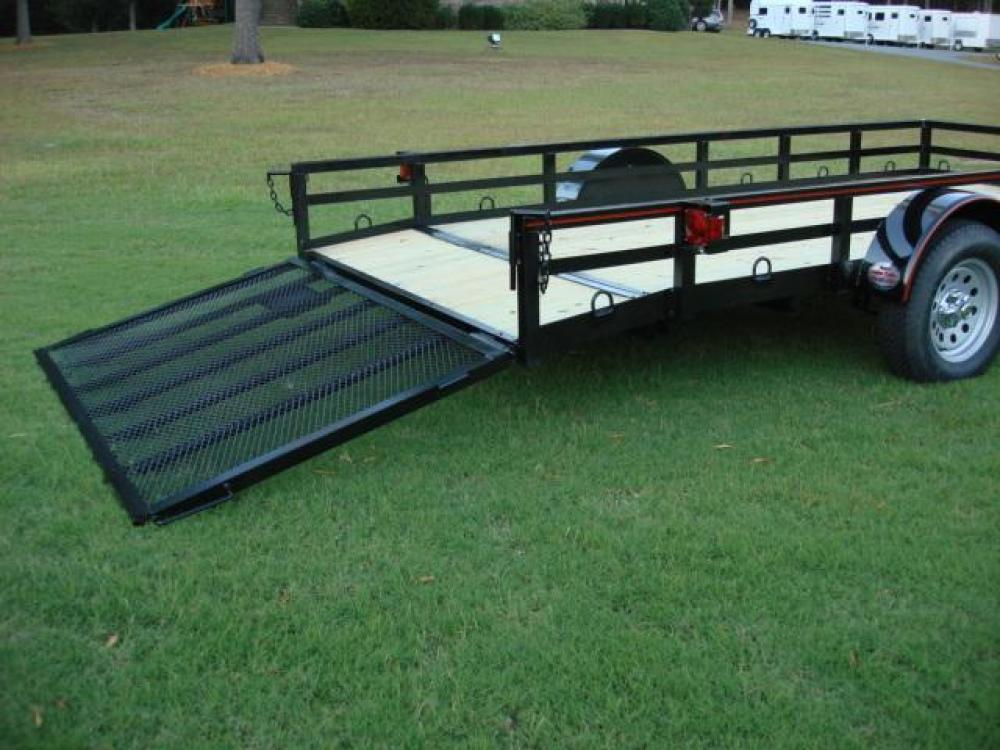 2021 Black Macon Custom Trailers Utility & Landscape , located at 1330 Rainey Rd., Macon, GA, 31220, (478) 960-1044, 32.845638, -83.778687 - Photo #7