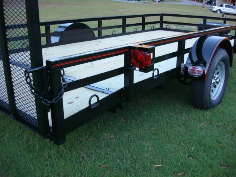 2021 Black Macon Custom Trailers Utility & Landscape , located at 1330 Rainey Rd., Macon, GA, 31220, (478) 960-1044, 32.845638, -83.778687 - Photo #8