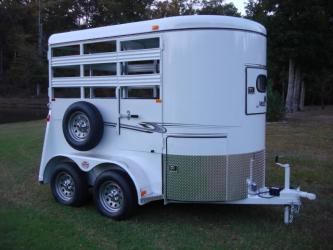 Sold! 6ft X 10ft Deluxe 2 Horse Straight Load Bee Trailer w/Mangers & Tackroom! Sold! Special Order Only!