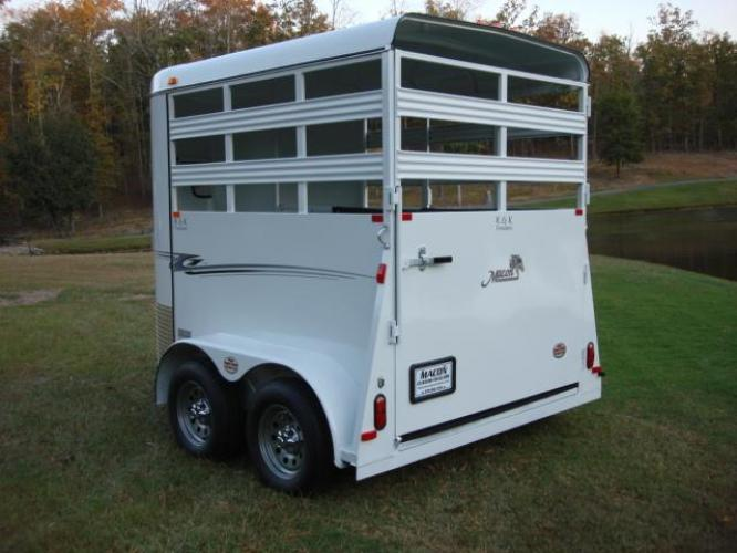 2020 White Bee Trailers 2 Horse Straight Load Wrangler , located at 1330 Rainey Rd., Macon, GA, 31220, (478) 960-1044, 32.845638, -83.778687 - Photo #1