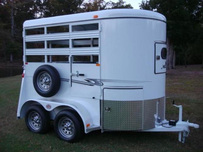 2020 White Bee Trailers 2 Horse Straight Load Wrangler , located at 1330 Rainey Rd., Macon, GA, 31220, (478) 960-1044, 32.845638, -83.778687 - Photo #22