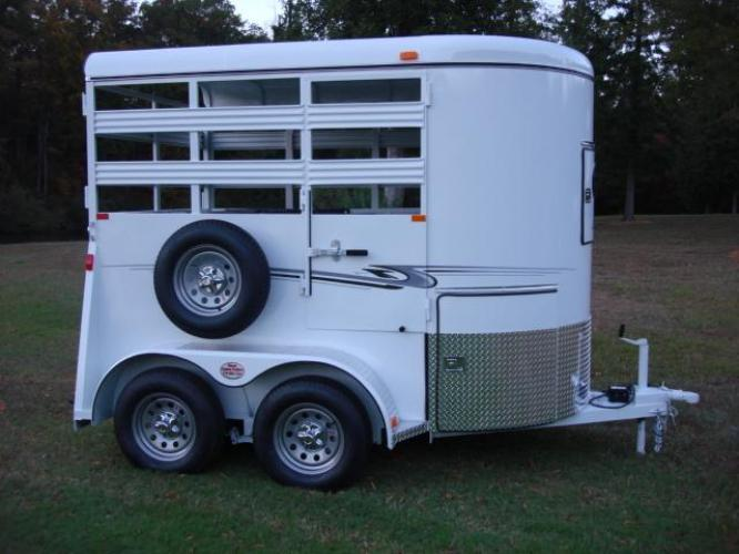 2020 White Bee Trailers 2 Horse Straight Load Wrangler , located at 1330 Rainey Rd., Macon, GA, 31220, (478) 960-1044, 32.845638, -83.778687 - Photo #8
