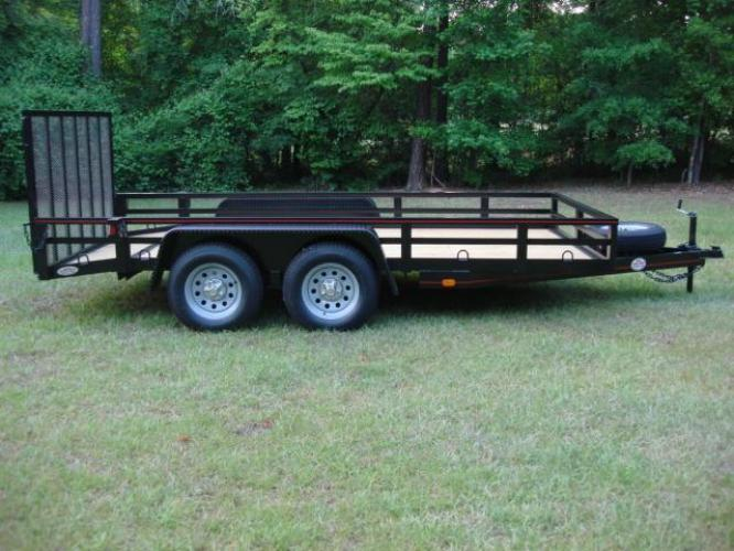 2020 Black Macon Custom Trailers Utility & Landscape , located at 1330 Rainey Rd., Macon, GA, 31220, (478) 960-1044, 32.845638, -83.778687 - Photo #0