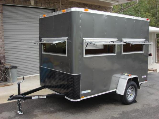 2020 Charcoal Metallic Freedom 6ft X 10ft Hunting Trailer , located at 1330 Rainey Rd., Macon, GA, 31220, (478) 960-1044, 32.845638, -83.778687 - Photo #0