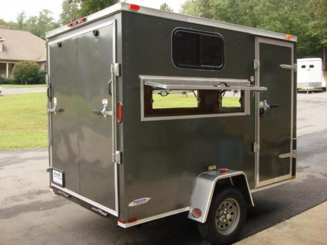 2020 Charcoal Metallic Freedom 6ft X 10ft Hunting Trailer , located at 1330 Rainey Rd., Macon, GA, 31220, (478) 960-1044, 32.845638, -83.778687 - Photo #9