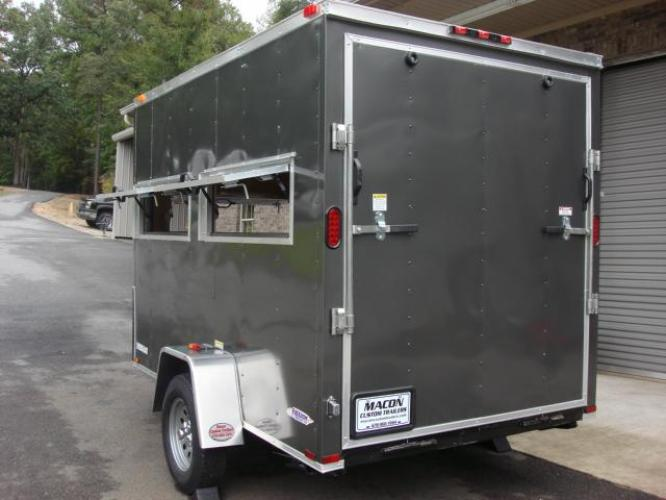 2020 Charcoal Metallic Freedom 6ft X 10ft Hunting Trailer , located at 1330 Rainey Rd., Macon, GA, 31220, (478) 960-1044, 32.845638, -83.778687 - Photo #11