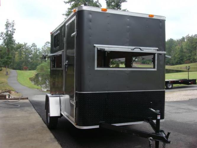 2020 Charcoal Metallic Freedom 6ft X 10ft Hunting Trailer , located at 1330 Rainey Rd., Macon, GA, 31220, (478) 960-1044, 32.845638, -83.778687 - Photo #2