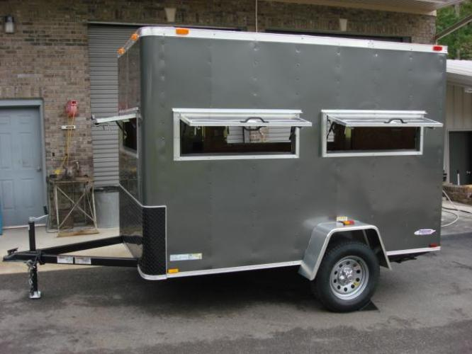 2020 Charcoal Metallic Freedom 6ft X 10ft Hunting Trailer , located at 1330 Rainey Rd., Macon, GA, 31220, (478) 960-1044, 32.845638, -83.778687 - Photo #3