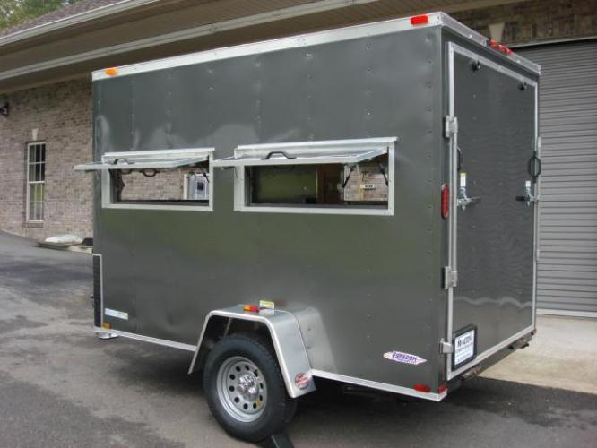 2020 Charcoal Metallic Freedom 6ft X 10ft Hunting Trailer , located at 1330 Rainey Rd., Macon, GA, 31220, (478) 960-1044, 32.845638, -83.778687 - Photo #4