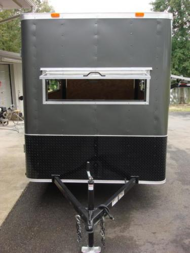 2020 Charcoal Metallic Freedom 6ft X 10ft Hunting Trailer , located at 1330 Rainey Rd., Macon, GA, 31220, (478) 960-1044, 32.845638, -83.778687 - Photo #8