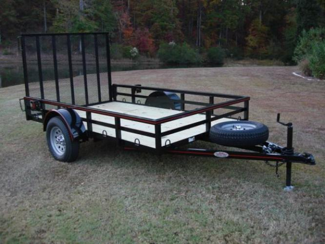 2019 Black Macon Custom Trailers 6ft X 10ft Deluxe , located at 1330 Rainey Rd., Macon, GA, 31220, (478) 960-1044, 32.845638, -83.778687 - Photo #0