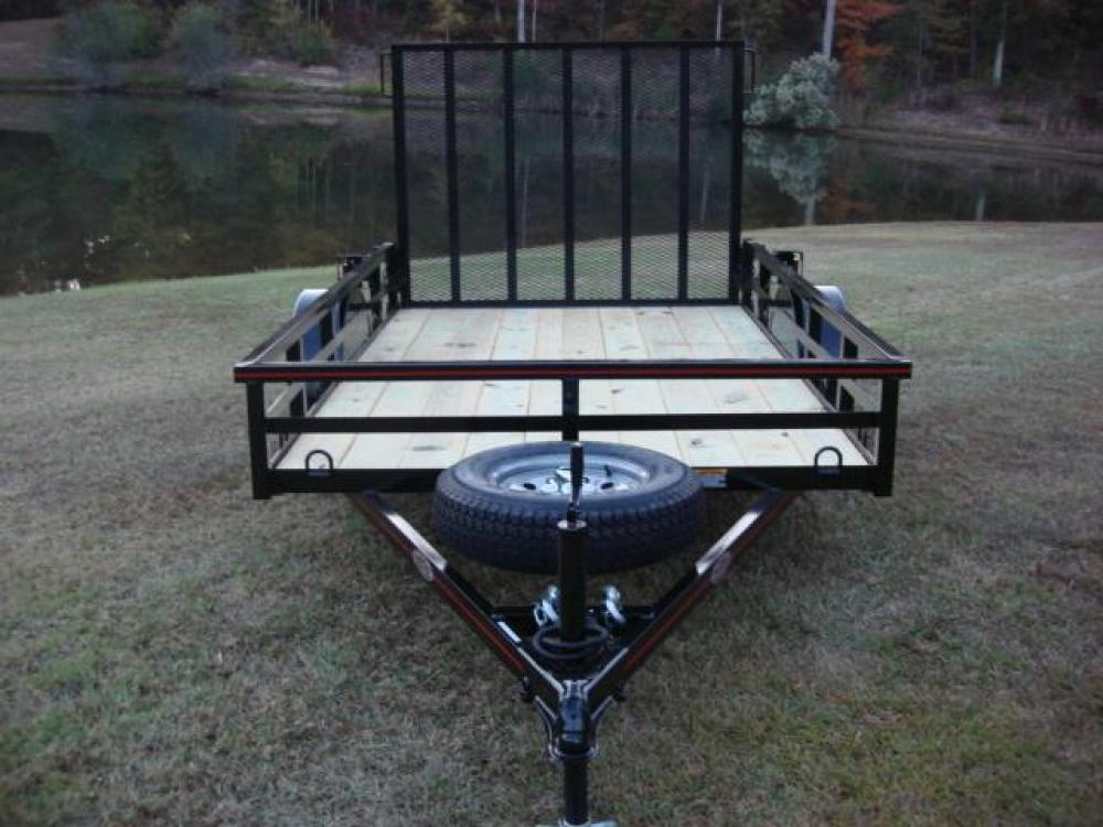 2021 Black Macon Custom Trailers 6ft X 10ft Deluxe , located at 1330 Rainey Rd., Macon, GA, 31220, (478) 960-1044, 32.845638, -83.778687 - Photo #9