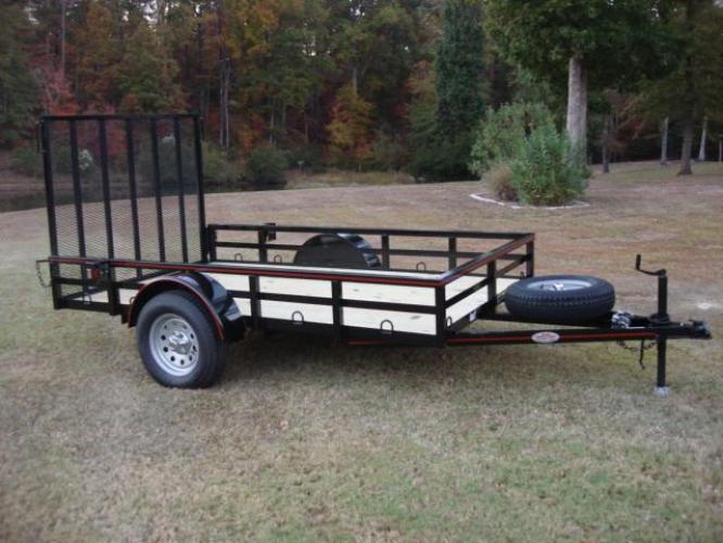 2019 Black Macon Custom Trailers 6ft X 10ft Deluxe , located at 1330 Rainey Rd., Macon, GA, 31220, (478) 960-1044, 32.845638, -83.778687 - Photo #10