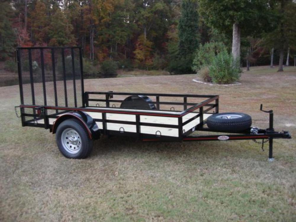 2021 Black Macon Custom Trailers 6ft X 10ft Deluxe , located at 1330 Rainey Rd., Macon, GA, 31220, (478) 960-1044, 32.845638, -83.778687 - Photo #10