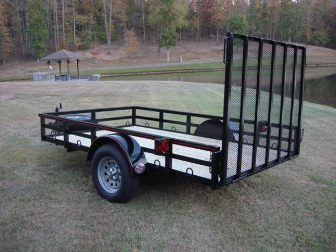 2019 Black Macon Custom Trailers 6ft X 10ft Deluxe , located at 1330 Rainey Rd., Macon, GA, 31220, (478) 960-1044, 32.845638, -83.778687 - Photo #1