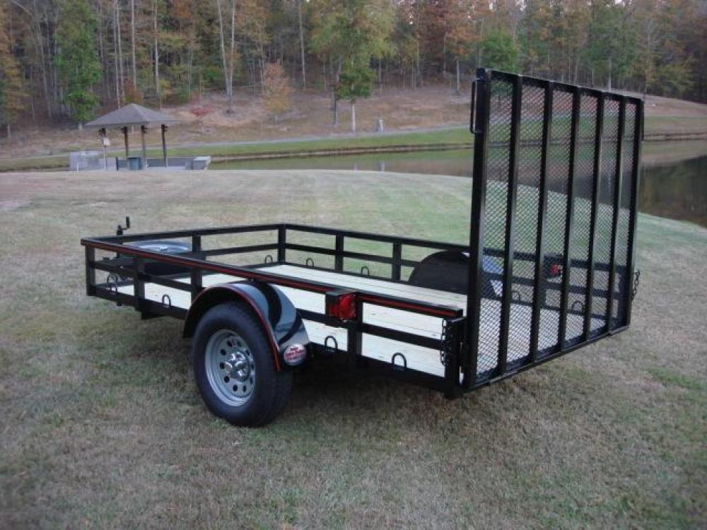 2021 Black Macon Custom Trailers 6ft X 10ft Deluxe , located at 1330 Rainey Rd., Macon, GA, 31220, (478) 960-1044, 32.845638, -83.778687 - Photo #1