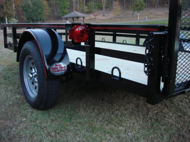 2019 Black Macon Custom Trailers 6ft X 10ft Deluxe , located at 1330 Rainey Rd., Macon, GA, 31220, (478) 960-1044, 32.845638, -83.778687 - Photo #2