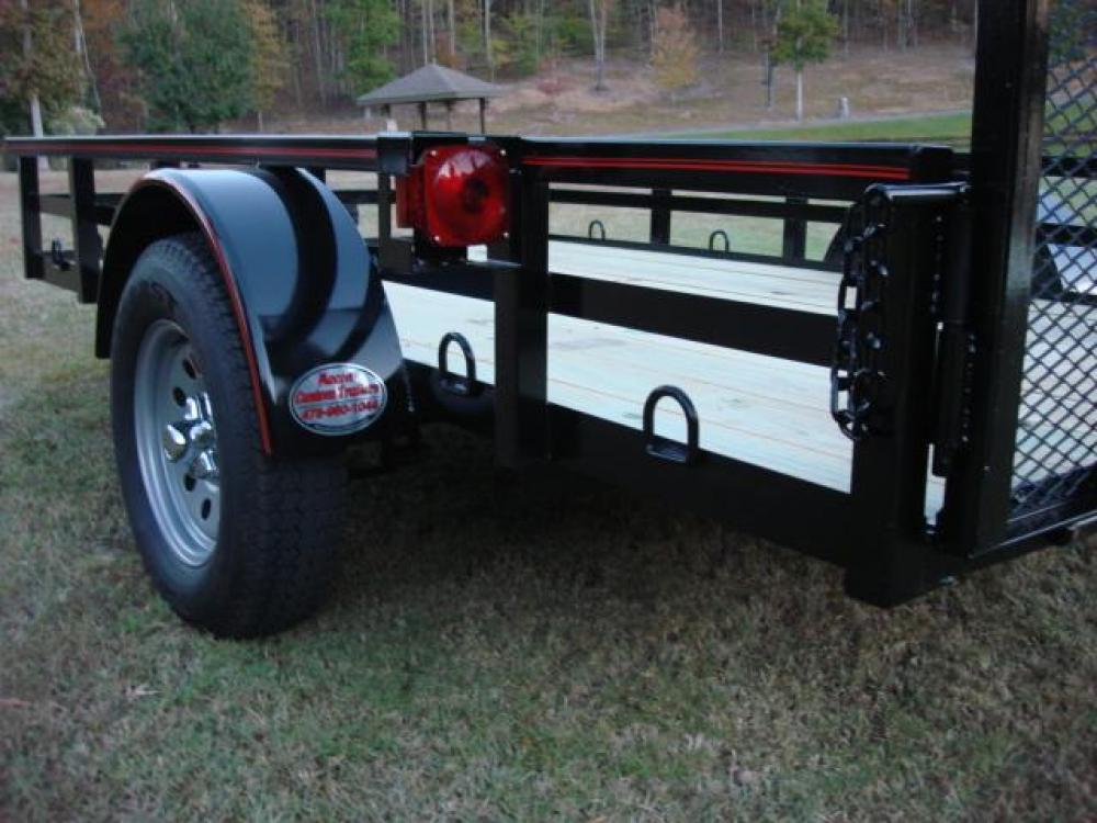 2021 Black Macon Custom Trailers 6ft X 10ft Deluxe , located at 1330 Rainey Rd., Macon, GA, 31220, (478) 960-1044, 32.845638, -83.778687 - Photo #2