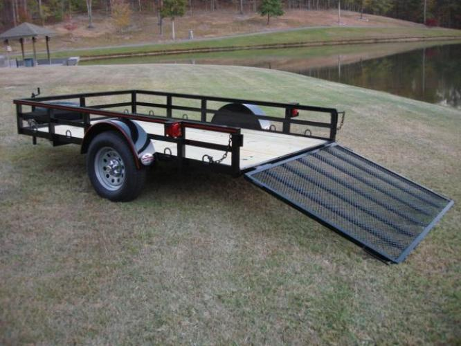 2019 Black Macon Custom Trailers 6ft X 10ft Deluxe , located at 1330 Rainey Rd., Macon, GA, 31220, (478) 960-1044, 32.845638, -83.778687 - Photo #3