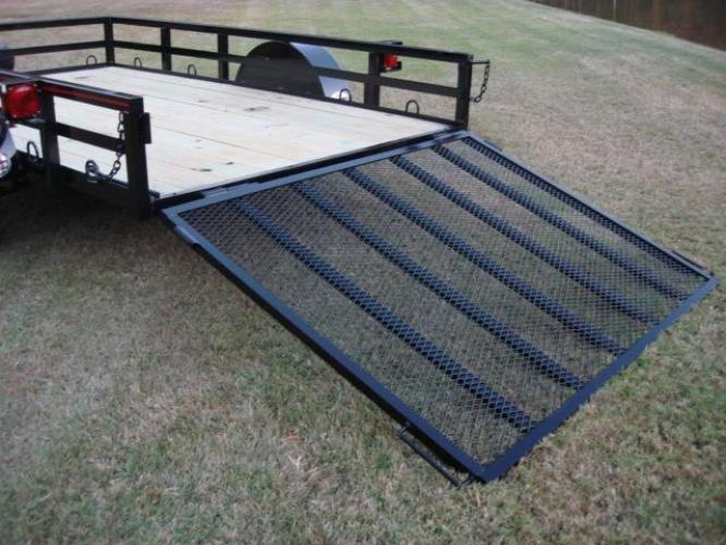 2019 Black Macon Custom Trailers 6ft X 10ft Deluxe , located at 1330 Rainey Rd., Macon, GA, 31220, (478) 960-1044, 32.845638, -83.778687 - Photo #4