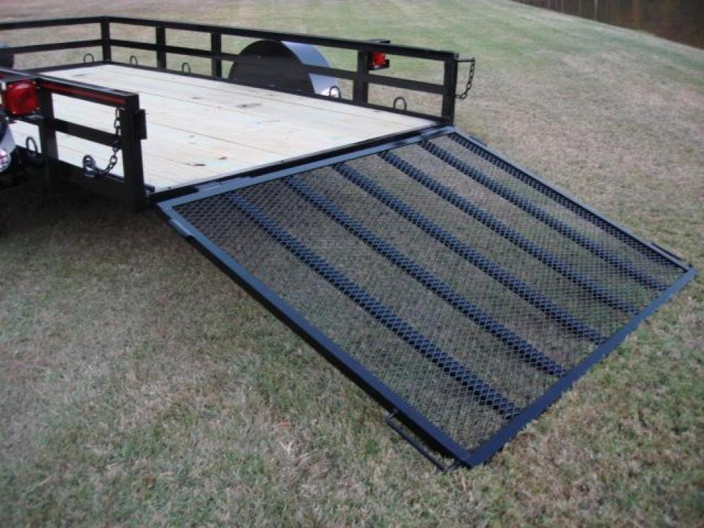2021 Black Macon Custom Trailers 6ft X 10ft Deluxe , located at 1330 Rainey Rd., Macon, GA, 31220, (478) 960-1044, 32.845638, -83.778687 - Photo #4