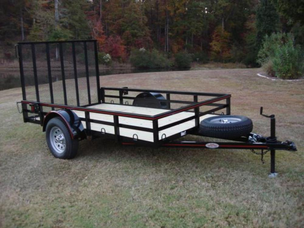 2021 Black Macon Custom Trailers 6ft X 10ft Deluxe , located at 1330 Rainey Rd., Macon, GA, 31220, (478) 960-1044, 32.845638, -83.778687 - Photo #7
