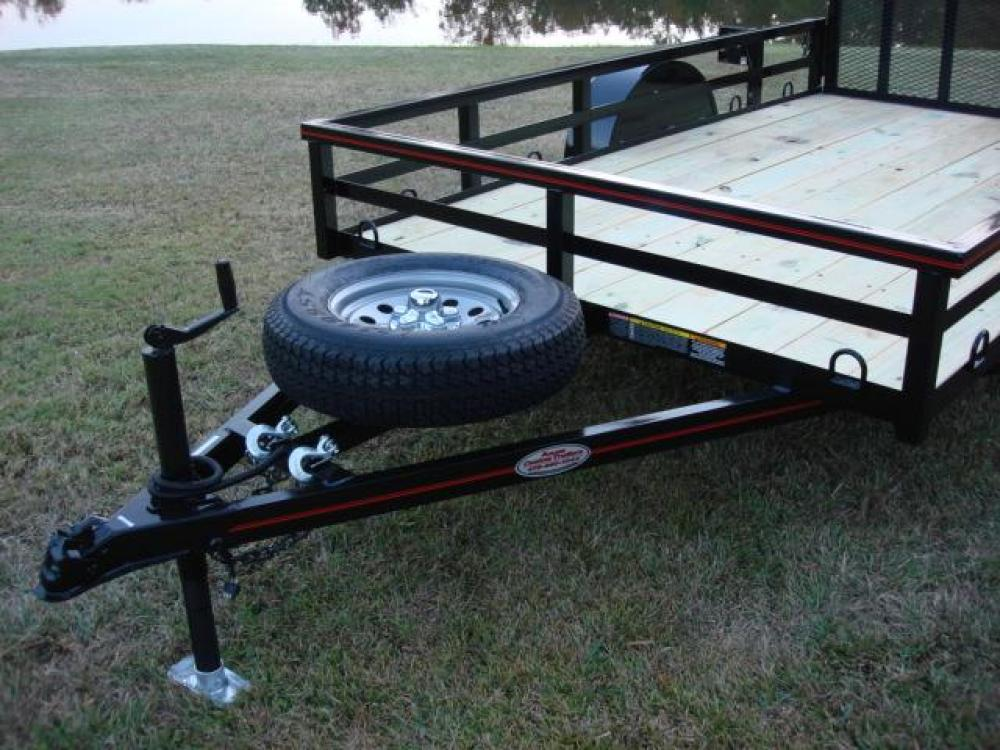 2021 Black Macon Custom Trailers 6ft X 10ft Deluxe , located at 1330 Rainey Rd., Macon, GA, 31220, (478) 960-1044, 32.845638, -83.778687 - Photo #8